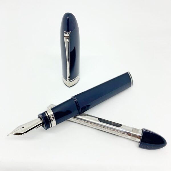 penna stilografica Omas 360 resina blu